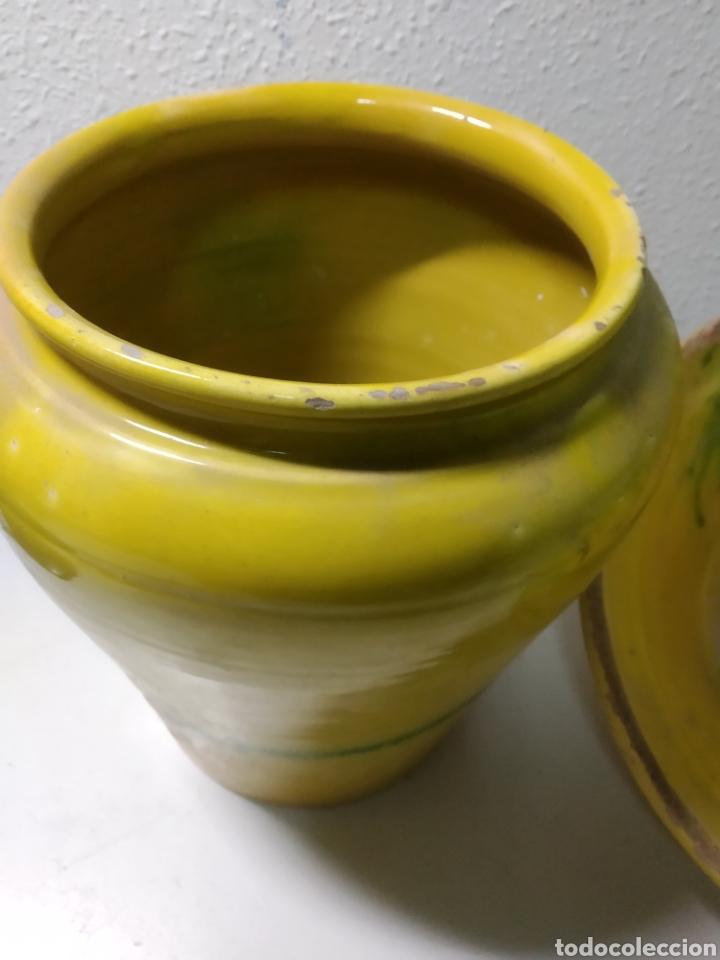Antigüedades: Conjunto de Antigua cerámica catalana finales siglo XIX ,orza y lebrillo de cocina - Foto 9 - 240358410