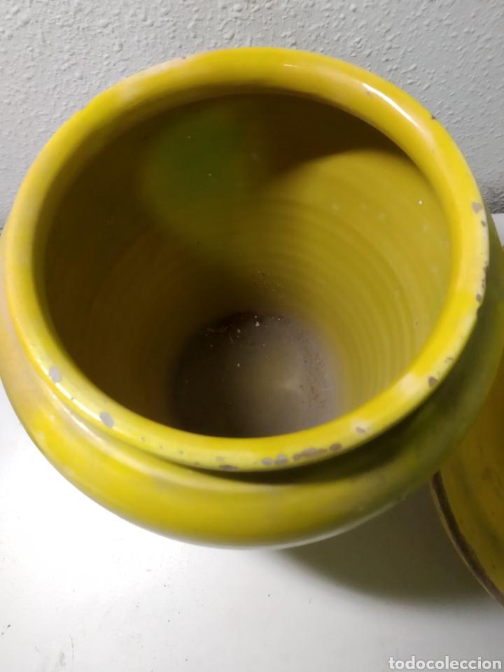Antigüedades: Conjunto de Antigua cerámica catalana finales siglo XIX ,orza y lebrillo de cocina - Foto 27 - 240358410