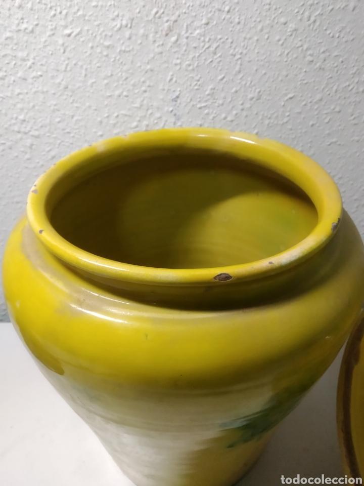 Antigüedades: Conjunto de Antigua cerámica catalana finales siglo XIX ,orza y lebrillo de cocina - Foto 32 - 240358410