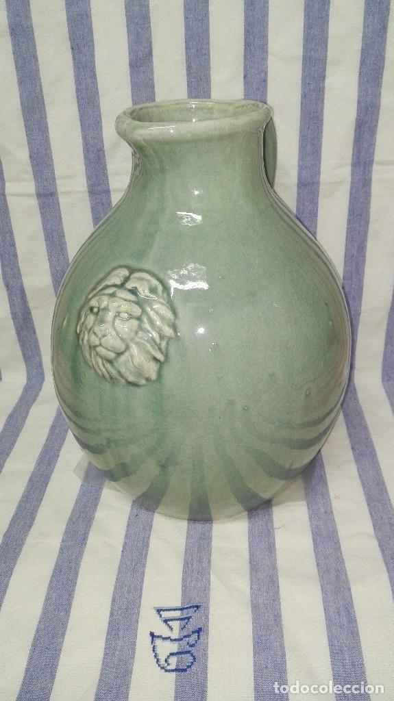 GRAN JARRA JARRÓN CHINO DE CERÁMICA TIPO CELADÓN (Antigüedades - Porcelanas y Cerámicas - Otras)