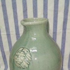 Antigüedades: GRAN JARRA JARRÓN CHINO DE CERÁMICA TIPO CELADÓN. Lote 240368600