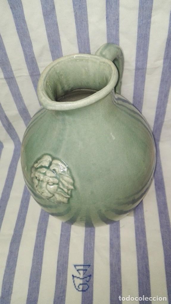 Antigüedades: GRAN JARRA JARRÓN CHINO DE CERÁMICA TIPO CELADÓN - Foto 2 - 240368600