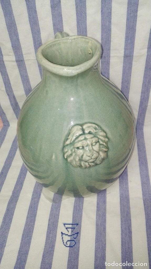 Antigüedades: GRAN JARRA JARRÓN CHINO DE CERÁMICA TIPO CELADÓN - Foto 3 - 240368600