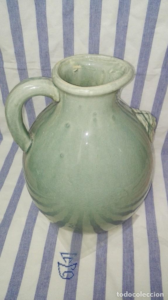 Antigüedades: GRAN JARRA JARRÓN CHINO DE CERÁMICA TIPO CELADÓN - Foto 7 - 240368600