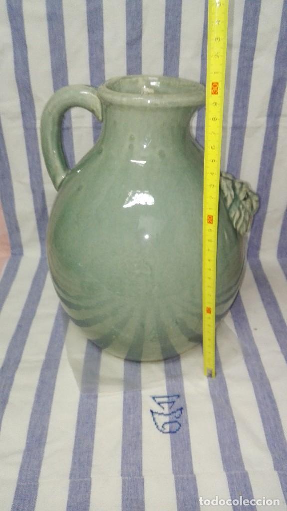 Antigüedades: GRAN JARRA JARRÓN CHINO DE CERÁMICA TIPO CELADÓN - Foto 14 - 240368600