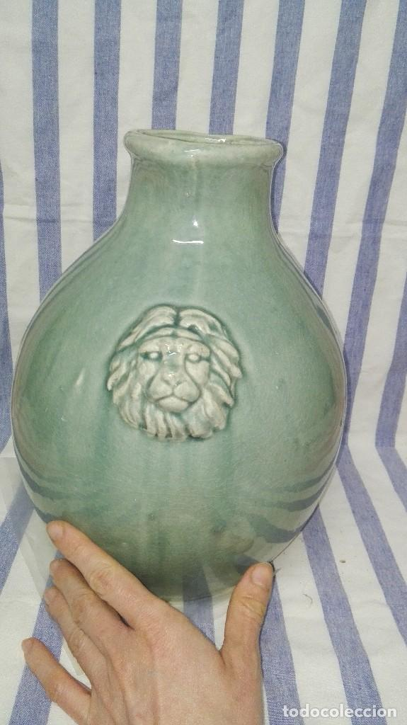 Antigüedades: GRAN JARRA JARRÓN CHINO DE CERÁMICA TIPO CELADÓN - Foto 15 - 240368600