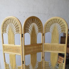 Antiquités: BAMBÚ BIOMBO DE MIMBRE, COLOR NATURAL. Lote 240379750