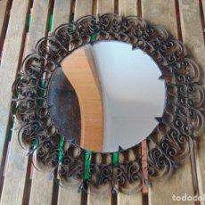 Antigüedades: ESPEJO TIPO SOL EN FILIGRANAS DE METAL METAL. Lote 240382485