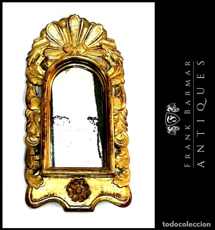 OFERTA: ESPEJO ANTIGUO CON PAN DE ORO FINALES SIGLO XIX - (50 X 24 CM) (Antigüedades - Muebles Antiguos - Espejos Antiguos)