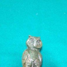 Antigüedades: FIGURA DE PIEDRA NATURAL BUHO. Lote 240451620