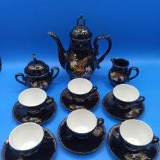 Antigüedades: JUEGO DE CAFE O DE TE MADE IN JAPAN CASCARA DE HUEVO GEISHA EN FONDO DE TAZA VER FOTO. Lote 240483425
