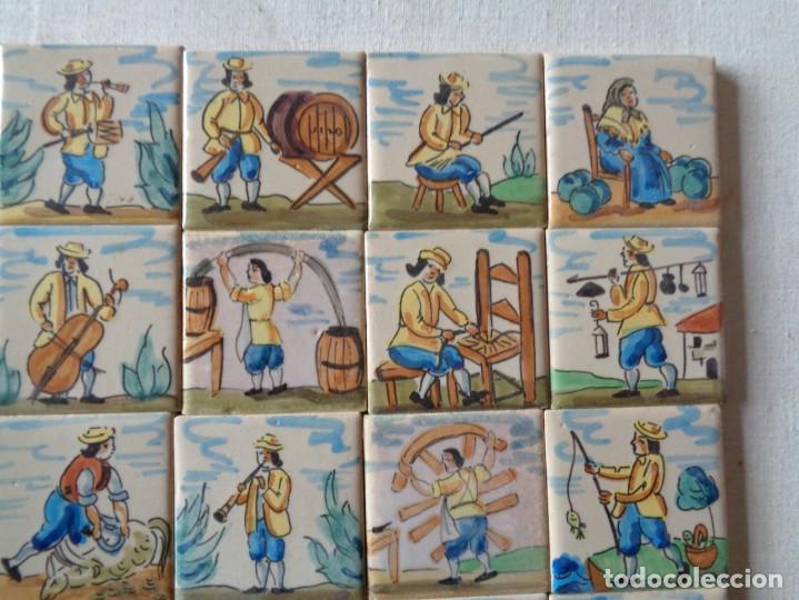 Antigüedades: CUARENTA Y DOS AZULEJOS DE OFICIOS DE 5 X 5 CTMS - Foto 3 - 240518195