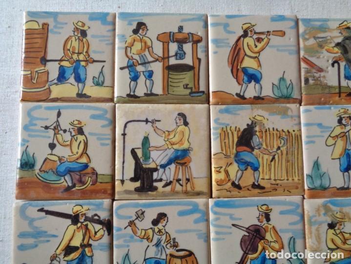 Antigüedades: CUARENTA Y DOS AZULEJOS DE OFICIOS DE 5 X 5 CTMS - Foto 4 - 240518195