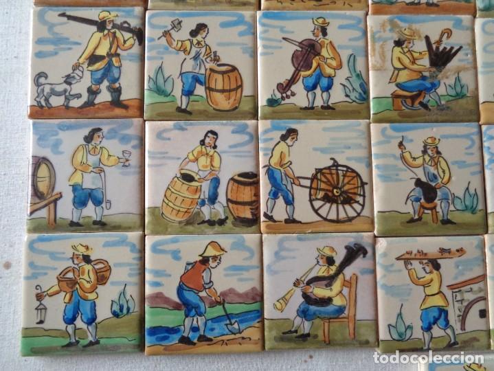 Antigüedades: CUARENTA Y DOS AZULEJOS DE OFICIOS DE 5 X 5 CTMS - Foto 5 - 240518195