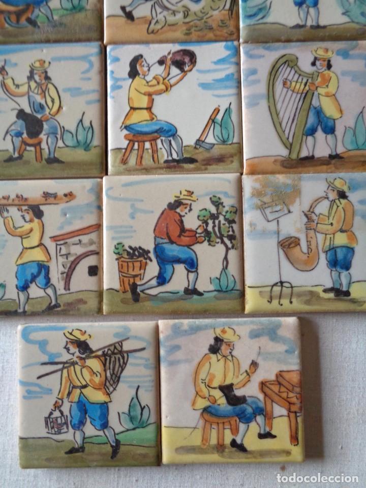 Antigüedades: CUARENTA Y DOS AZULEJOS DE OFICIOS DE 5 X 5 CTMS - Foto 6 - 240518195