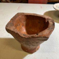 Antiquités: MORTERO EN CERÁMICA POPULAR DE CALANDA, TERUEL S.XIX. Lote 240532435