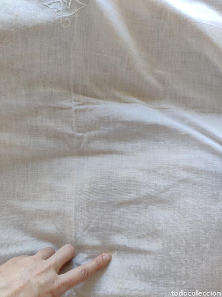 Antigüedades: Sábana y almohadón antiguos algodón ca. 1910 - Foto 5 - 240597225