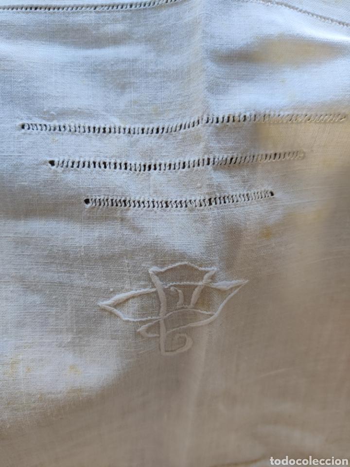 Antigüedades: Sábana y almohadón antiguos algodón ca. 1910 - Foto 6 - 240597225