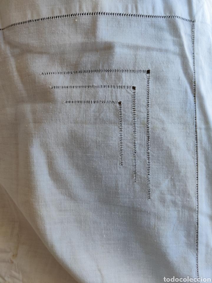 Antigüedades: Sábana y almohadón antiguos algodón ca. 1910 - Foto 7 - 240597225