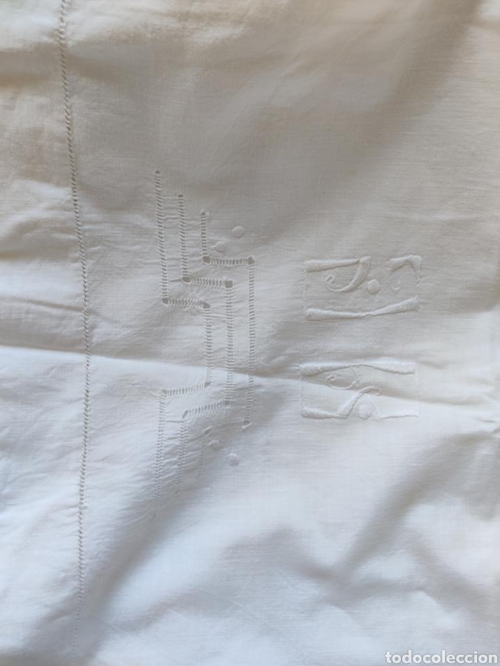 Antigüedades: Sábana y almohadón antiguos algodón ca. 1910 - Foto 8 - 240597225