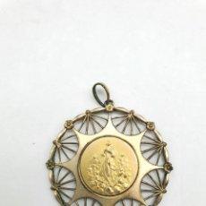 Antigüedades: COLGANTE RELIGOSO EN METAL ( VIRGEN SIN IDENTIFICAR ). Lote 240601815