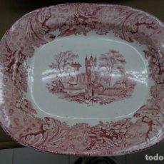 Antigüedades: FUENTE DE CERAMICA ROSA DEL SIGLO XIX. Lote 240609255