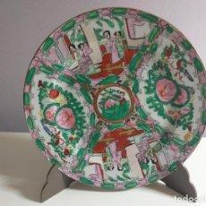 Antigüedades: PLATO DECORATIVO. IMÁGENES JAPONESAS. DIÁMETRO 23 CM.. Lote 240678145