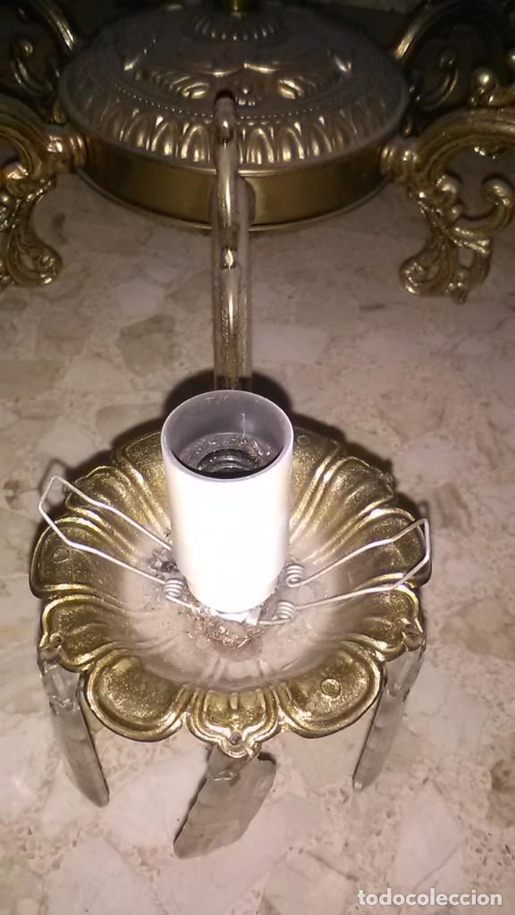 Antigüedades: Lampara araña bronce, 15kg de peso - Foto 2 - 240678575