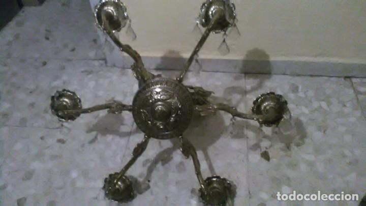Antigüedades: Lampara araña bronce, 15kg de peso - Foto 5 - 240678575