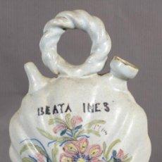 Antigüedades: BOTIJO EN CERÁMICA LEVANTINA SIGLO XIX. Lote 240700235