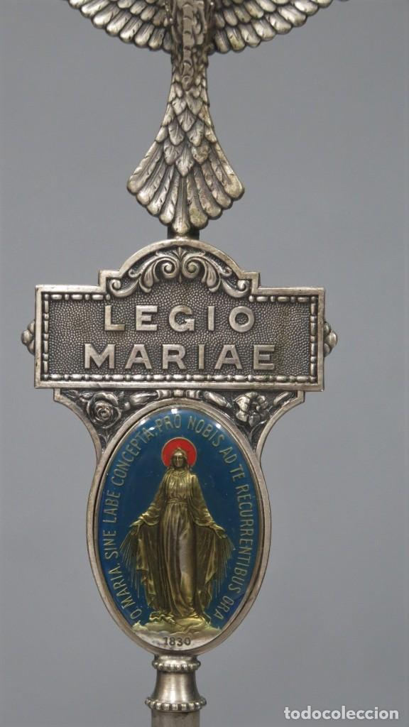 Antigüedades: ESTANDARTE DE SOBREMESA DE LA LEGION DE MARIA. LEGIONARIOS DE MARIA - Foto 3 - 275302703