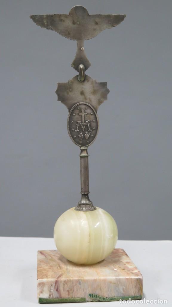 Antigüedades: ESTANDARTE DE SOBREMESA DE LA LEGION DE MARIA. LEGIONARIOS DE MARIA - Foto 5 - 275302703