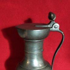 Antigüedades: JARRA DE ESTAÑO - 23CM X 11 CM. Lote 240742860