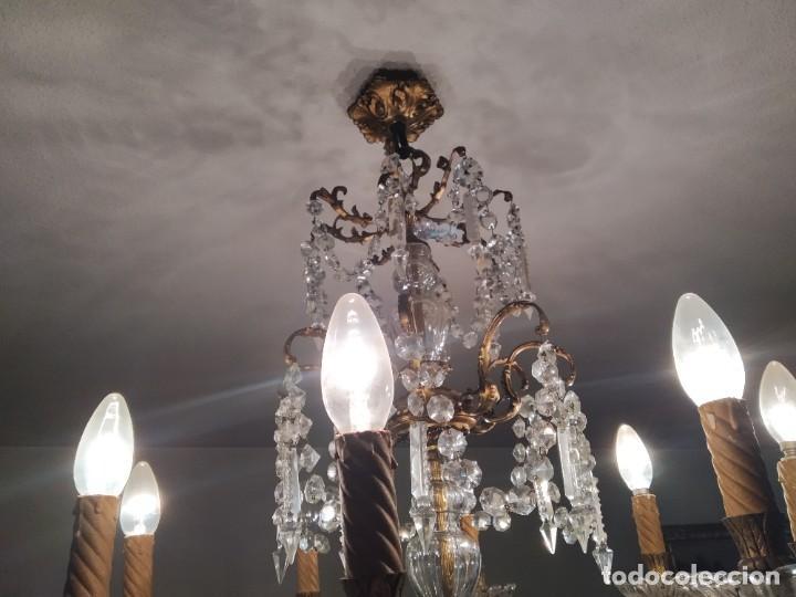 Antigüedades: Lámpara de araña antigua - Foto 2 - 240806045