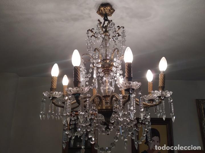 Antigüedades: Lámpara de araña antigua - Foto 3 - 240806045
