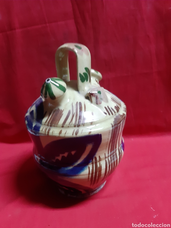 ANTIGUO BOTIJO EN CERÁMICA (Antigüedades - Porcelanas y Cerámicas - Manises)
