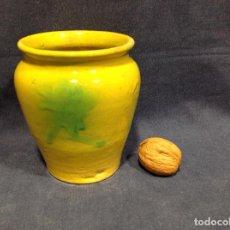 Antigüedades: BOTE DE CERÁMICA, PARA CONSERVAS O FARMACIA, S. XX. Lote 240928385