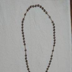 Antigüedades: ANTIGUO ROSARIO FILIGRANA PLATA 800. Lote 240957595