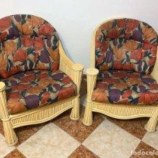 Antigüedades: PAREJA DE SILLONES DE BAMBU. Lote 240964615