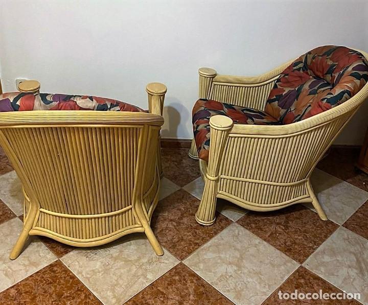 Antigüedades: PAREJA DE SILLONES DE BAMBU - Foto 2 - 240964615