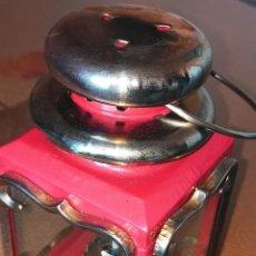 Antigüedades: LAMPARA QUINQUEL - FAROL DE PETROLEO. LATON. ESPEJOS CRISTAL. DESCRIPCION Y FOTOS.. Lote 240992020