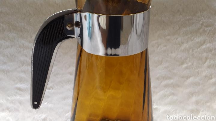 Antigüedades: Vasos + Jarra Ámbar Vidrio Soplado. NUEVO. - Foto 22 - 240996230