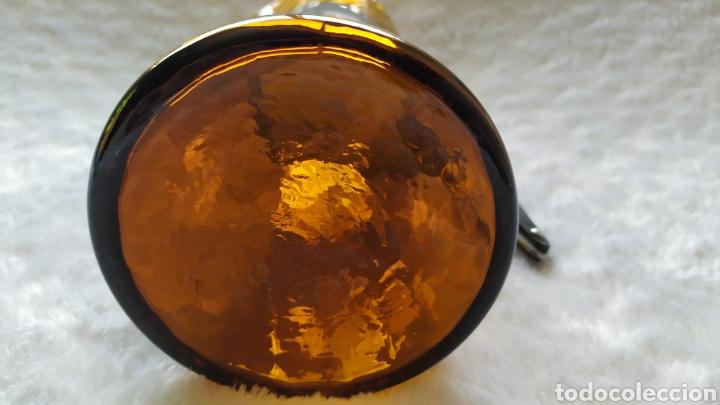 Antigüedades: Vasos + Jarra Ámbar Vidrio Soplado. NUEVO. - Foto 24 - 240996230
