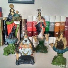 Antigüedades: MUY EXCEPCIONAL LOTE DE IMÁGENES RELIGIOSAS ANTIGUAS EN BARRO - SIGLO XIX - TERRACOTAS GRANADINAS. Lote 241019380