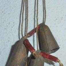 Antigüedades: 4 CENCERROS PEQUEÑOS, EXCELENTE SONIDO. Lote 241136315