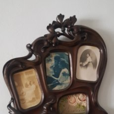 Antigüedades: MARCO DE MADERA TALLADO, MODERNISTA.. Lote 241149835
