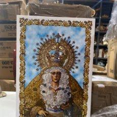 Antigüedades: BALDOSA VIRGEN DE LA MACARENA & NUESTRA SEÑORA DE LA ESPERANZA.30X20 CM . VER FOTOS. Lote 241186265
