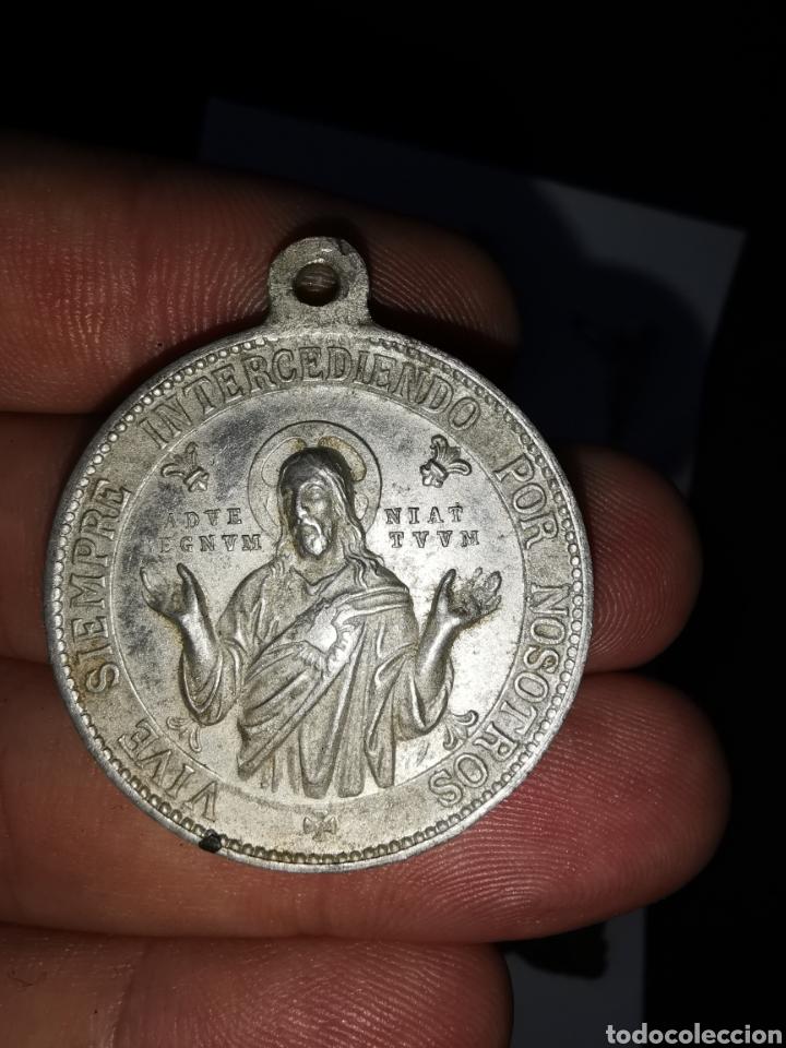 Antigüedades: Lote medallas y objetos religiosos, siglo XIX y XX - Foto 7 - 241219190