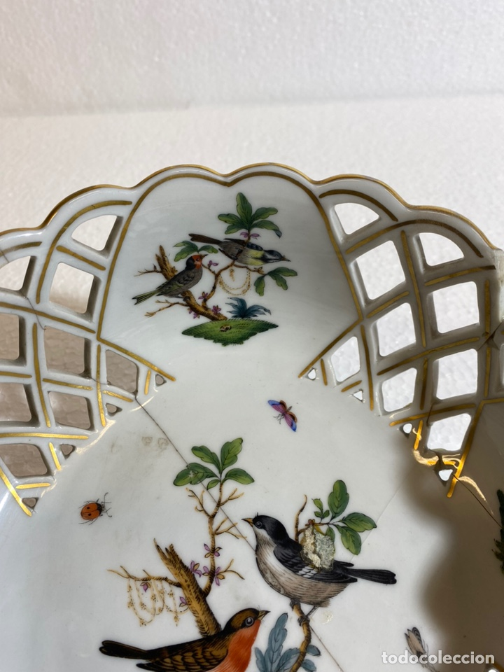 Antigüedades: Cesta en porcelana europea para restaurar - Foto 3 - 241227350