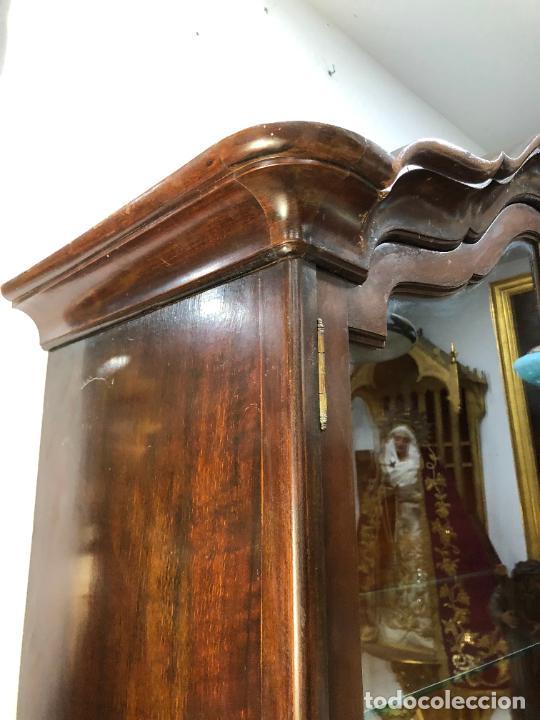 Antigüedades: GRAN VITRINA DE MADERA - MEDIDA TOTAL 131X148X42 CM - Foto 2 - 241234050
